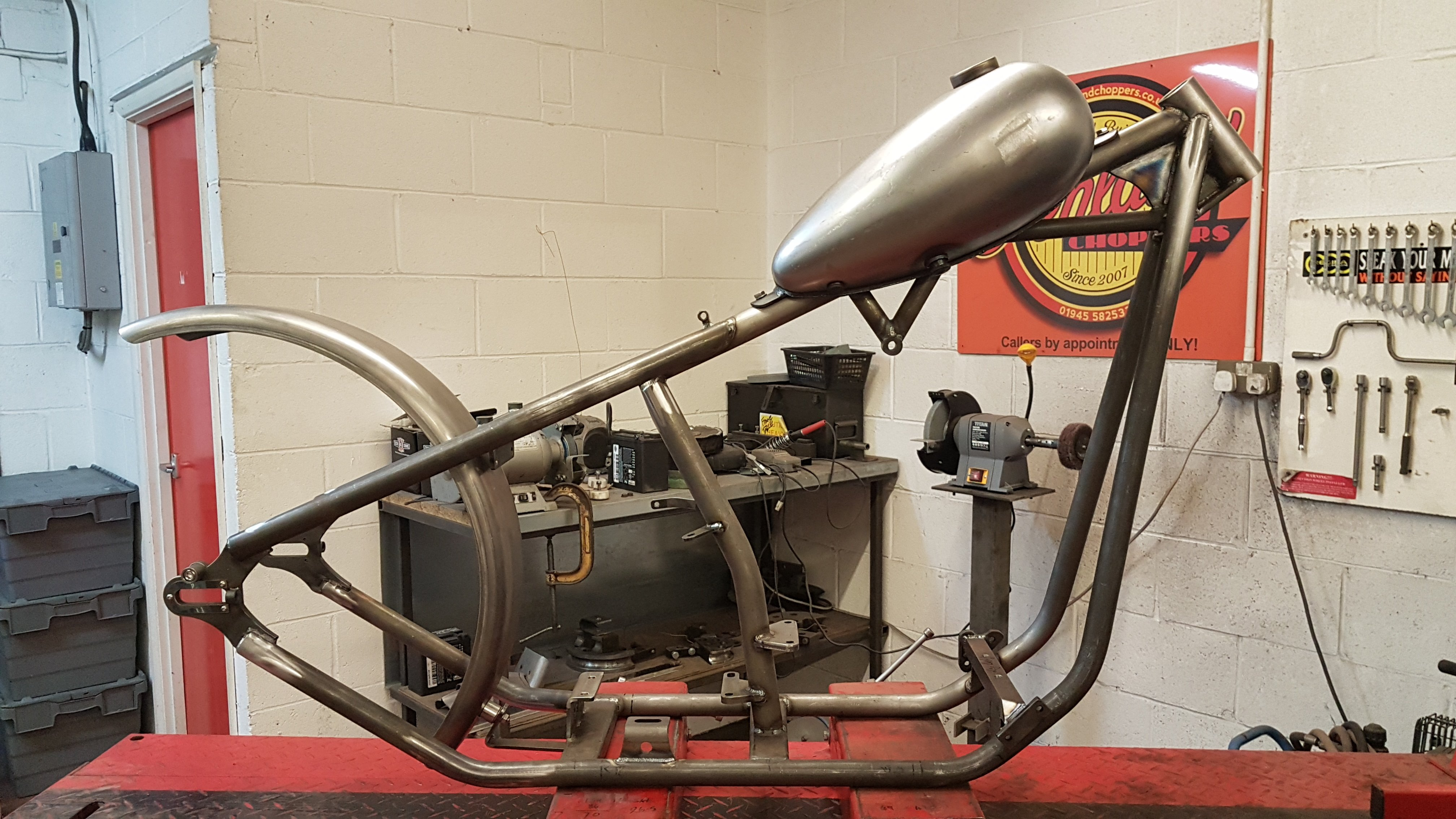 Harley Big Twin Chopper Frame dec 2019 (10)