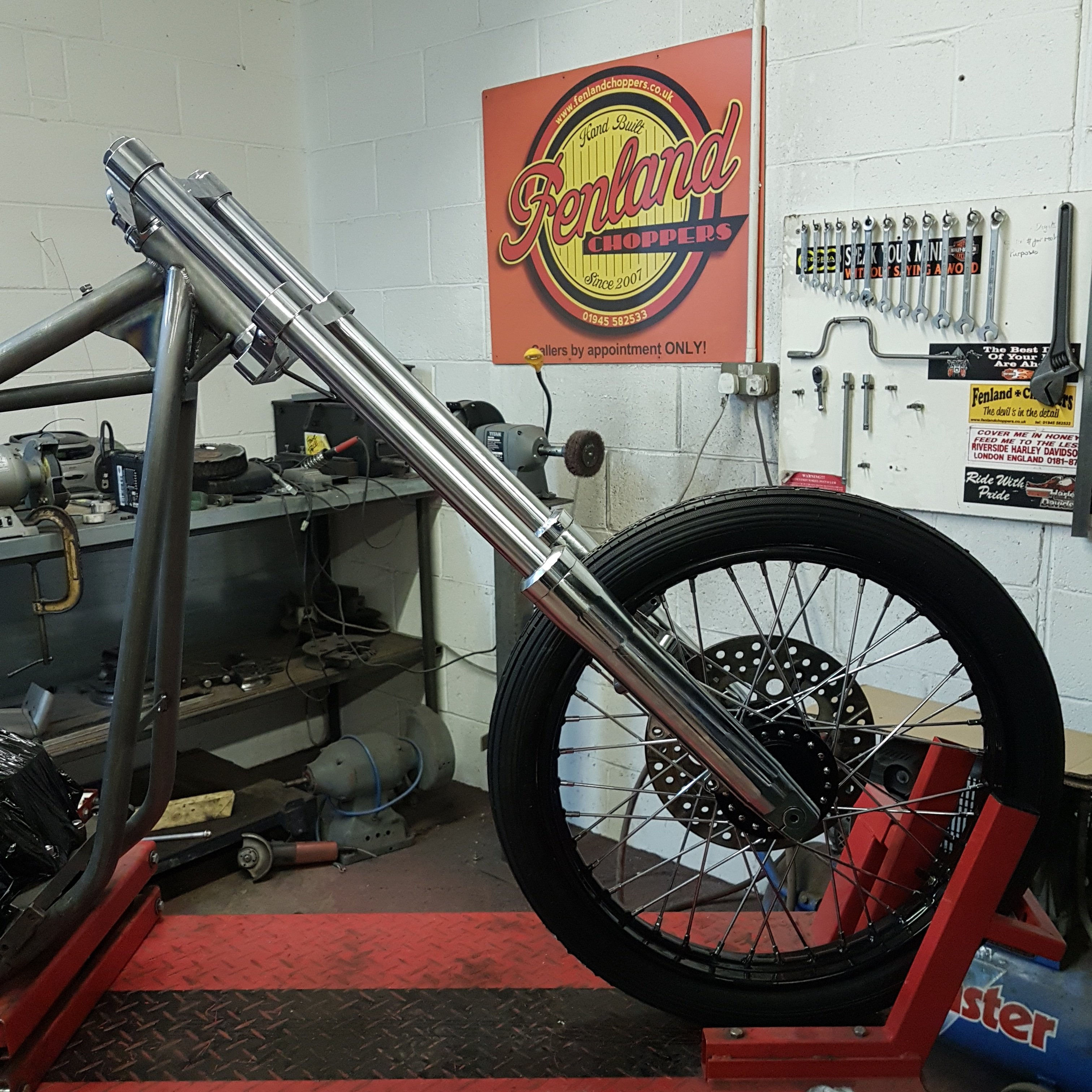 Harley Big Twin Chopper Frame dec 2019 (14)