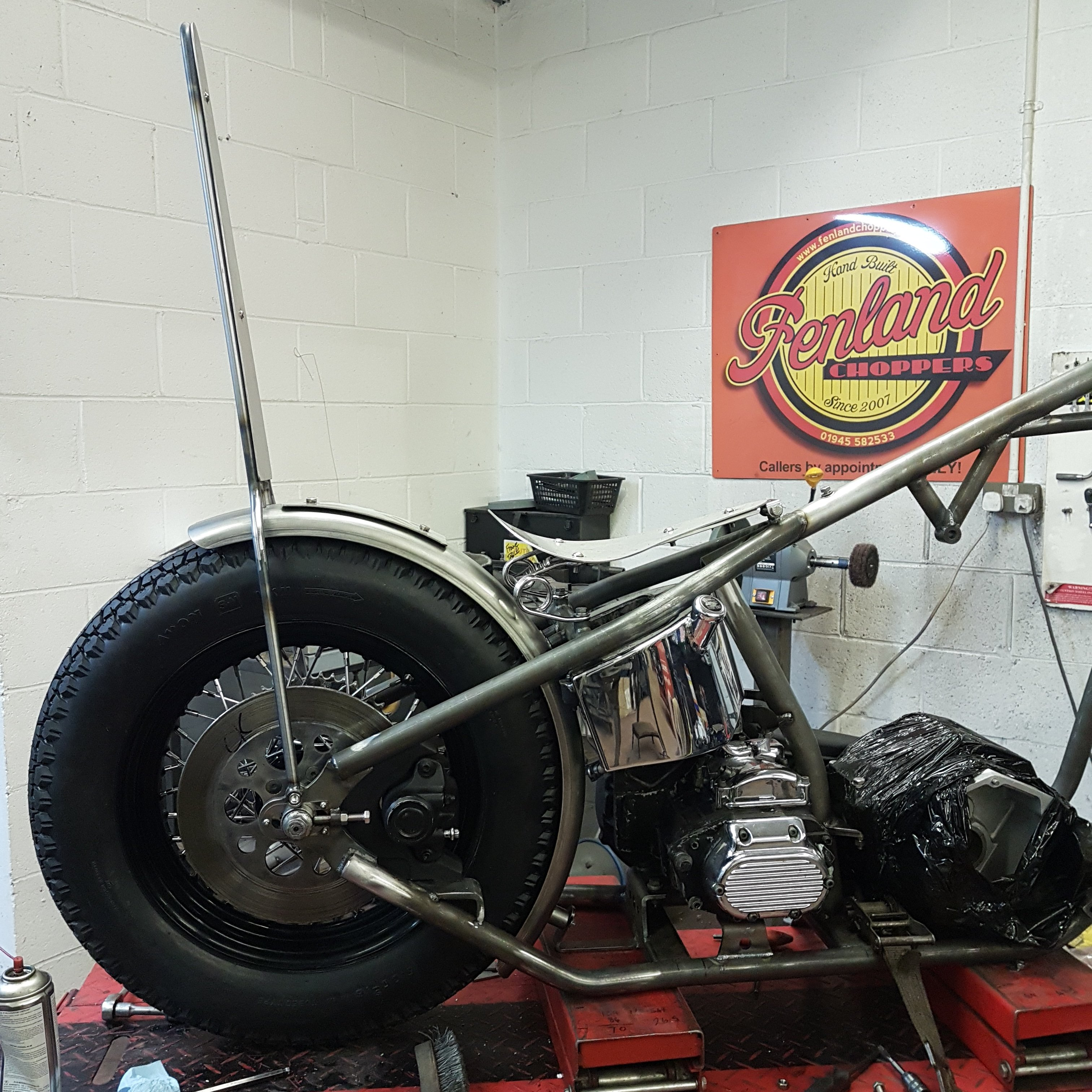 Harley Big Twin Chopper Frame dec 2019 (15)