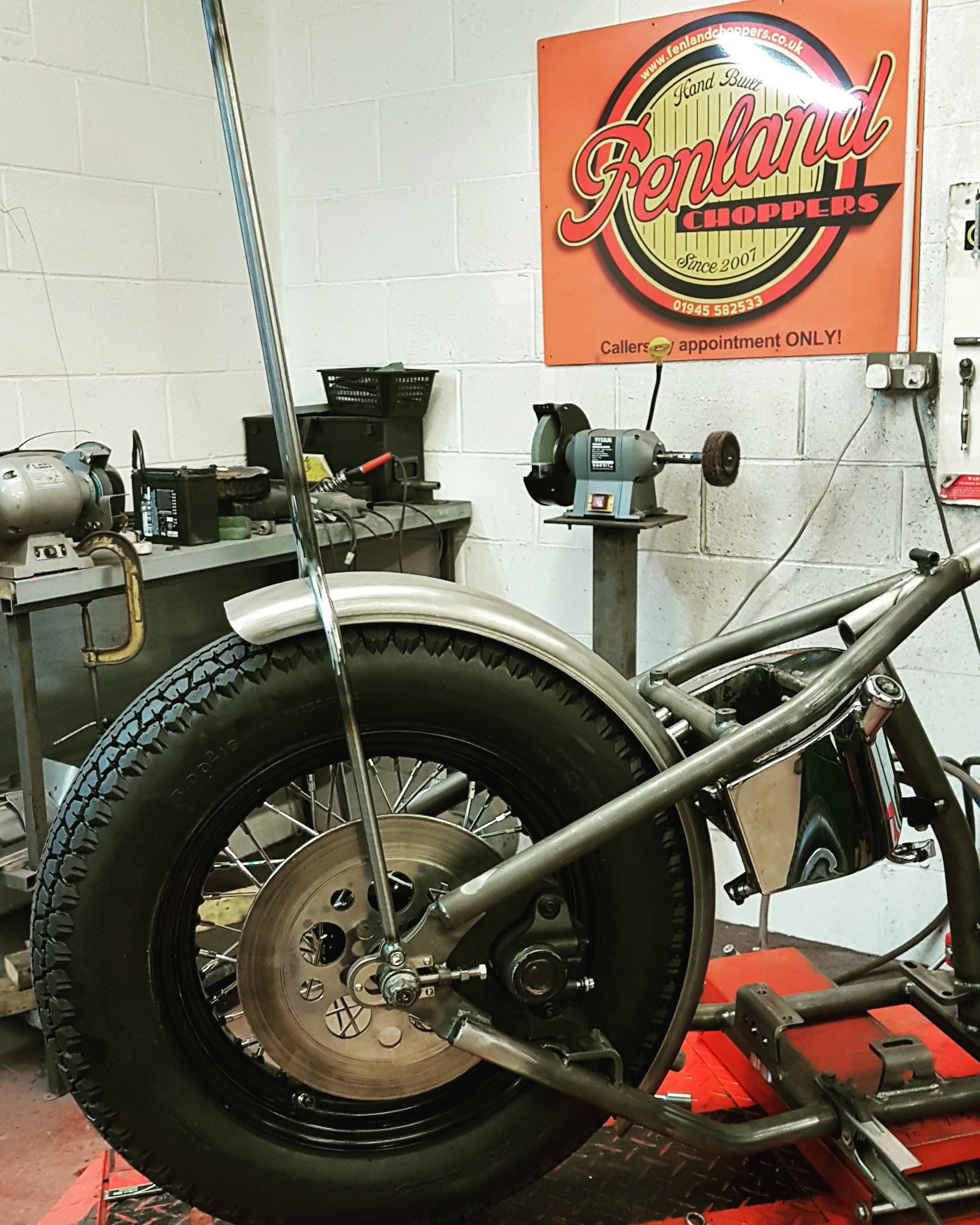 Harley Big Twin Chopper Frame dec 2019 (16)