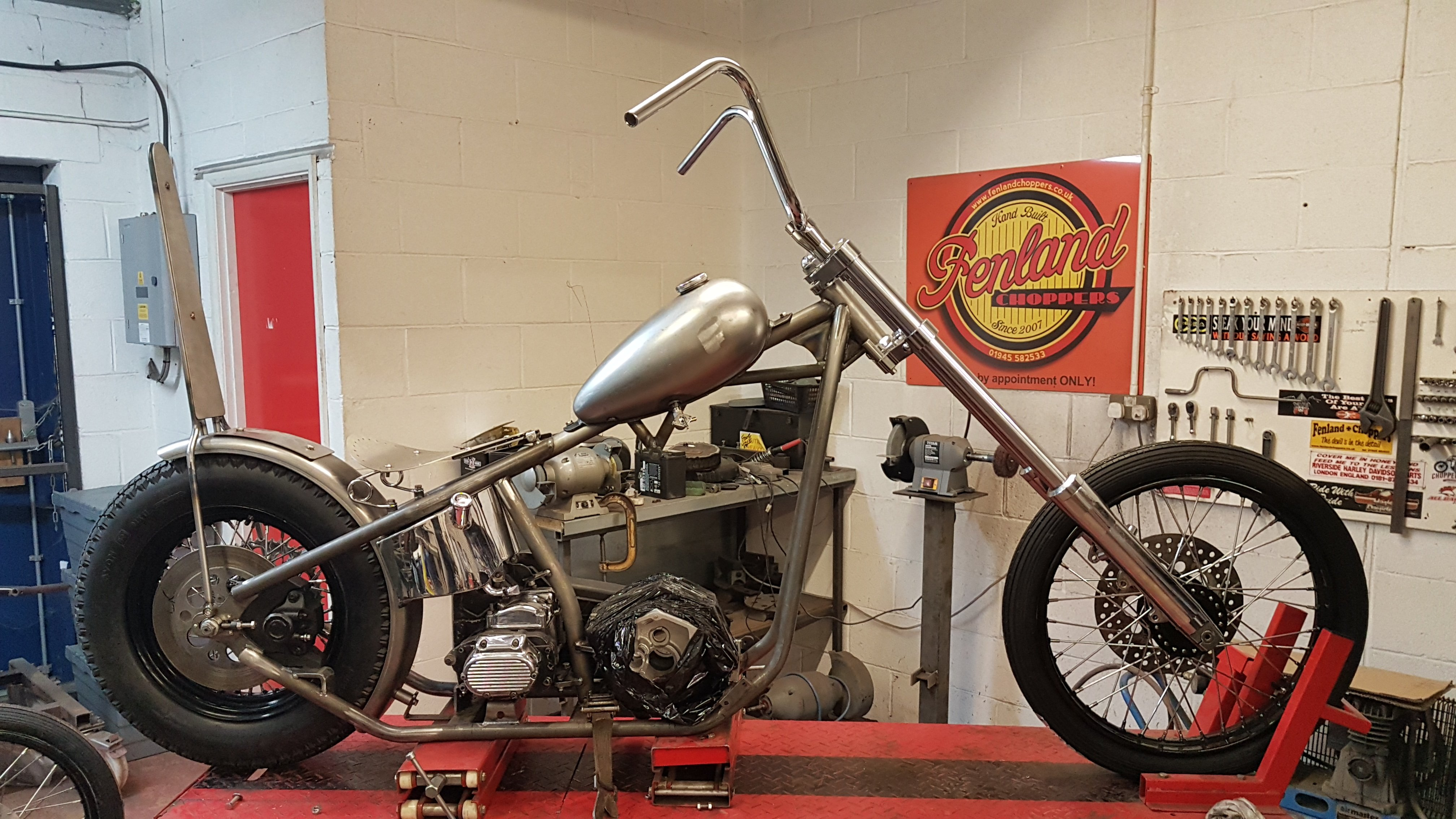 Harley Big Twin Chopper Frame dec 2019 (17)