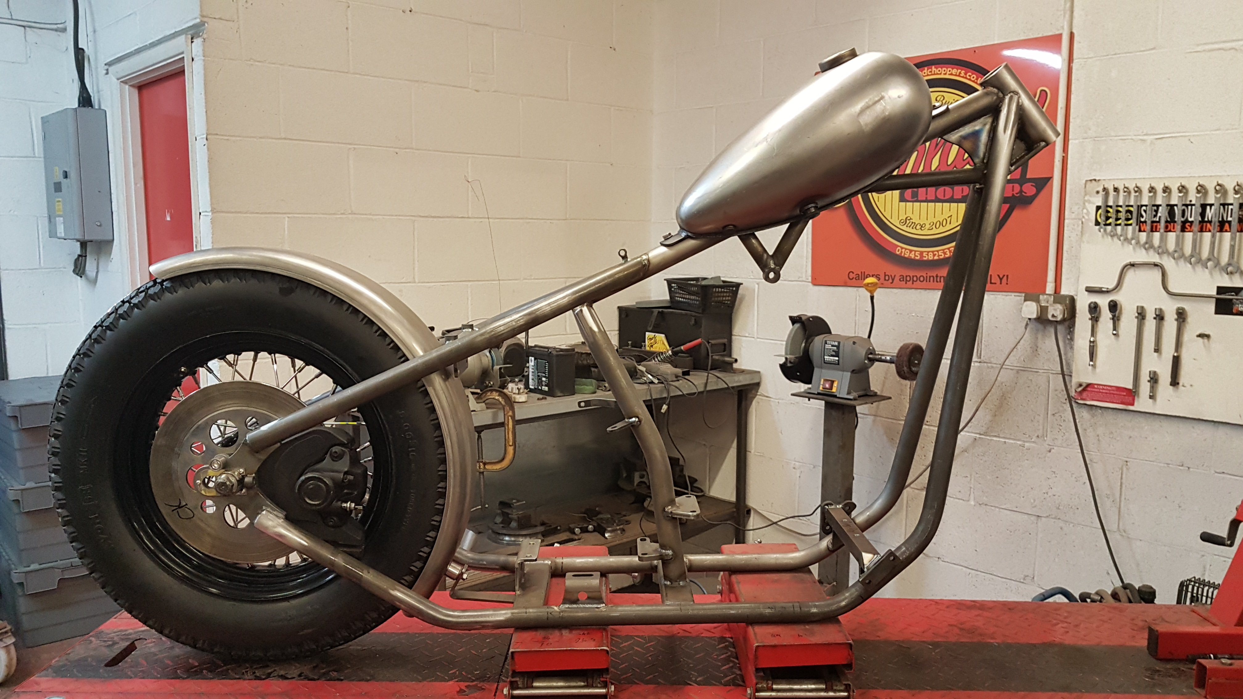 Harley Big Twin Chopper Frame dec 2019 (9)